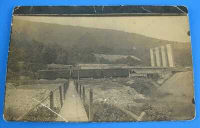 Toland Clay Works PA Postcard RPPC Railroad Train Cars Mining Cumberland County