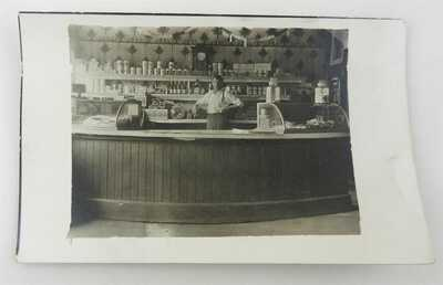 "RPPC 3.5""x5.5"" Postcard Joe Eberle at His Store in Peninsula Ohio at the Bridge"