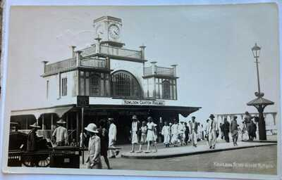 Hong Kong Real Photo Postcard Star Ferry Pier Central 1930s