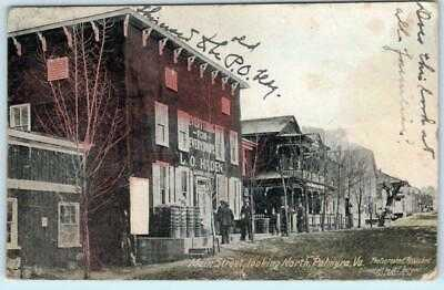 W.E Burgess PALMYRA, Virginia VA ~ MAIN STREET Scene looking North 1912 Postcard