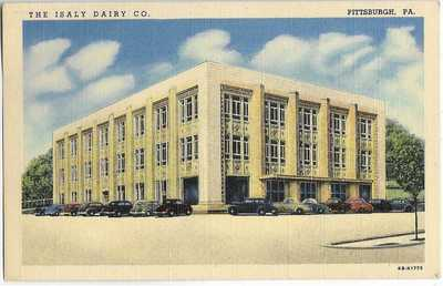 ISALY DAIRY CO,PLANT & RETAIL STORE~PITTSBURGH,PA -CT 1946