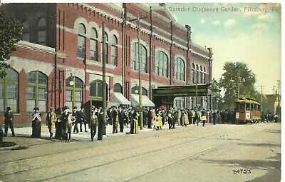 POSTCARD EXTERTOR DUQUESNE GARDEN, PITTSBURG, PA  1910