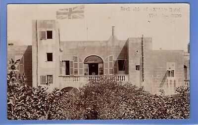 UNUSUAL 1962 AXISA'S HOTEL VICTORIA GOZO MALTA RP PHOTO VINTAGE POSTCARD