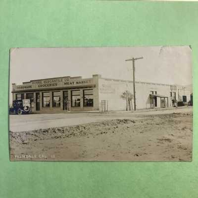 Palmdale California CA RPPC Postcard 1907-20's Moore Mercantile Co. Store Fron