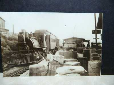 1910 Tijuana Railroad Depot Train Tia Juana RPPC postcard Kodak back