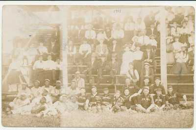 1908 Minneapolis Keystones RPPC Negro baseball postcard Marshall Football HOF