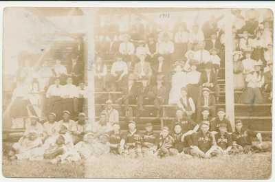 1908 Minneapolis Keystones RPPC Negro baseball postcard Marshall Football HOF
