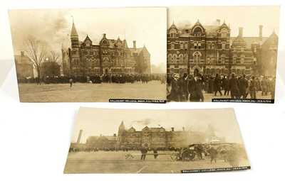 Fire at Gallaudet College, Washington, D.C.1910 -3 RPPC / Real Photo Post Cards
