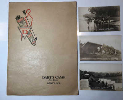 Antique Postcard/Application Dart's Camp For Boys Adirondack