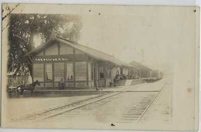 RPPC-Los Olivos CA -Railroad Station-Train Depot- California Real Photo Postcard