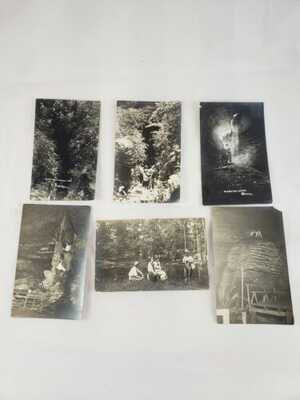 C 1919 Archive 6 RPPC Postcards Expedition Marvel Cave Branson MO Waltz Photos