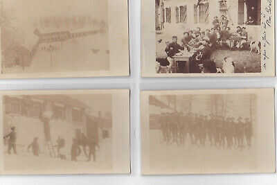 PLAN CAVAL : lot de 10 cartes photo de chasseurs alpins (ski - caserne - militai