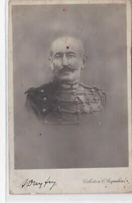 AFFAIRE DREYFUS : carte postale ancienne d'Alfred Dreyfus avec son autographe (j
