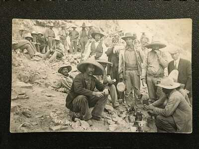 Mexican Revolution Postcard (RPPC), Insurrectos at camp