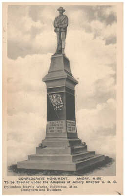c. 1920 Confederate Monument -  Amory, Mississippi