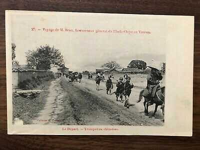 CHINA OLD POSTCARD GOUVERNEUR GENERAL MILITARY CHINESE TRUMPETY YUNAM YUNNAN !!