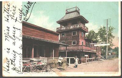 1901 George Ohr postcard, Biloxi Art Pottery, Biloxi, Mississippi