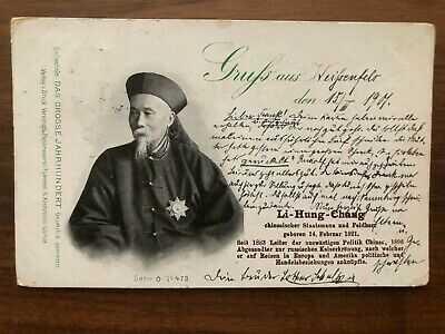 CHINA OLD POSTCARD CHINESE MANDARIN LI HUNG CHANG TO GERMANY 1901 !!