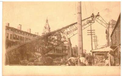 1926 Mobile, Alabama Real Photo  postcard - Aftermath of Hurricane