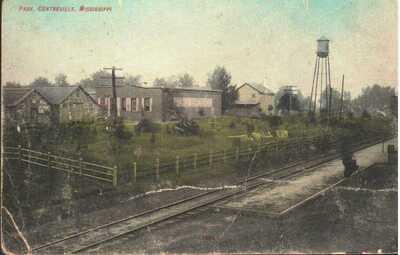 c.1909 - Park near Railroad Tracks, Centreville, Mississippi