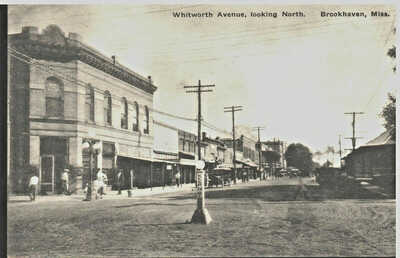 c. 1910 Brookhaven, Mississippi - Whitworth Avenue, looking North