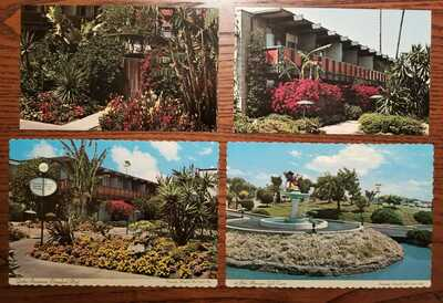 Disneyland Postcards; very early DL hotel views; 4 different Disney postcards