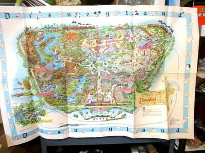 Vintage Disneyland 1962 Poster Map Magic Kingdom Original Anaheim NICE AS CAN BE