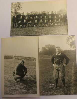 1913 1914 UNIVERSITY OF ILLINOIS CHAMPAIGN URBANA REAL PHOTO POSTCARDS FOOTBALL