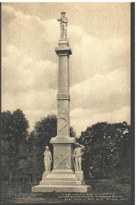 1911 Heidelberg, Mississippi - Confederate Monument