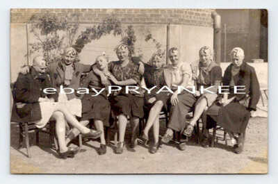 WW2 Shaved Head COLLABORATION HORIZONTALE France RPPC PHOTO POSTCARD / Germany