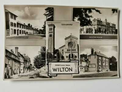 "Vintage Postcard ""Greetings From Wilton"", Multiview, Wiltshire"