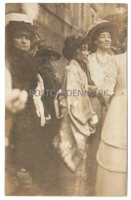 SUFFRAGE, MARY MACARTHUR, Scottish Suffragette, Traders Unionist, RECEPTION RPPC