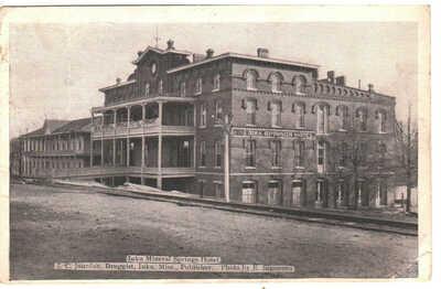 1910 Iuka Mineral Springs Hotel, Iuka, Mississippi