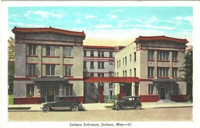 c. 1920's Jackson Infirmary, Jackson, Mississippi