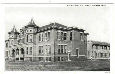 c.1920's Columbia, Mississippi - High School Building