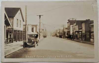 Issaquah ca. 1920 RPPC, gas station, Washington WA
