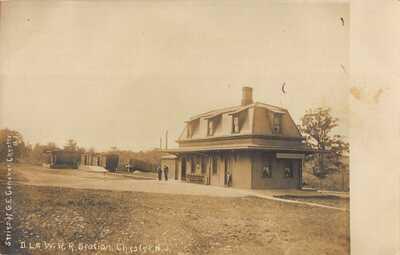 J1F12: RR STATION CHESTER, NJ: RARE ASTRO UDB RPPC/POSTCARD CIRCA 1906