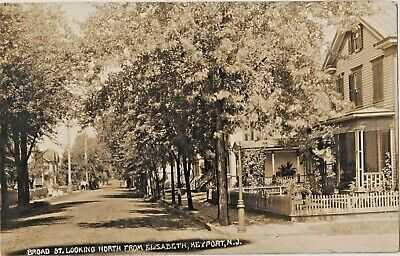 RP Real Photo  Broad St/looking North from Elizabeth St. KEYPORT NJ 1912