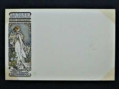 Art Nouveau Alphonse Mucha Sarah Bernhardt La Dame aux Camelias 1898 Very Rare!