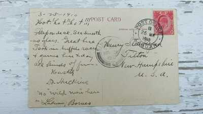 1910 postcard Victoria Labuan postmarked and Singapore