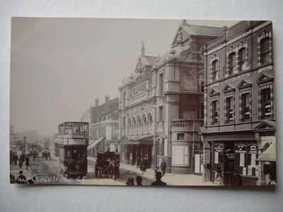 New Cross Road , S.E.London - circa 1905 real photo - tram & Empire Theatre