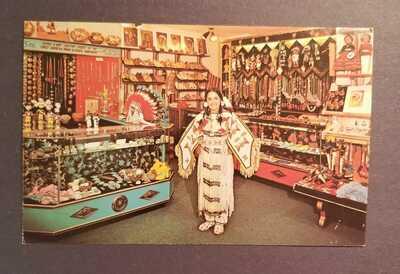 Disneyland Postcard; DL Hotel Plaza gift shop; seldom seen; rare; vintage Disney