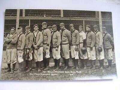 1909 Wausau Wisconsin Base Ball Team w/All Names on Back RPPC WI Wis-Minn League