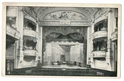 PC SCARBOROUGH LONDESBOROUGH THEATRE CINEMA INTERIOR YORKSHIRE c1914