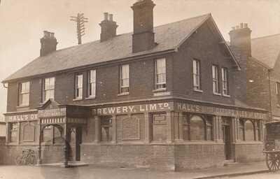 CIRCA 1908 RP POSTCARD: HALL'S BREWERY, MAGDALEN ROAD, OXFORD, OXFORDSHIRE
