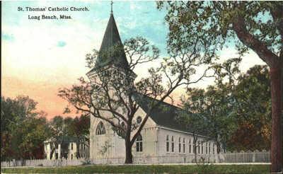1913 Long Beach, Mississippi - St. Thomas' Catholic Church
