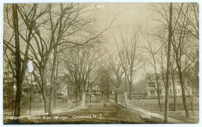 Antique 1914 RPPC Mansions Residential Union Ave Bridge Rahway River Cranford NJ