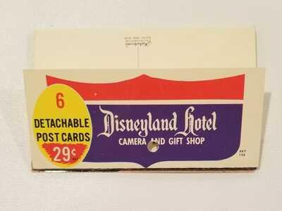 Disneyland postcards; super rare DL Hotel folder fully intact; vintage Disney