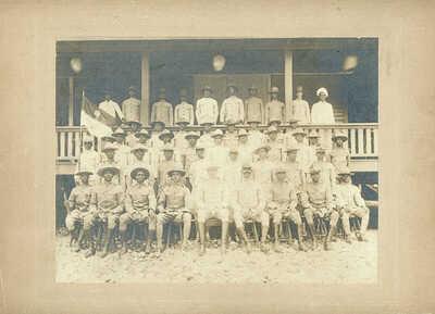 WW I era, Troop K, 9th Cavalry Regiment, Buffalo Soldiers Photograph, c.1917-19