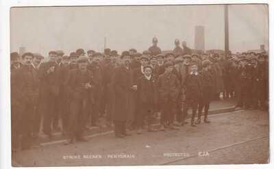 STRIKE SCENES AT PENTCRAIG      1910